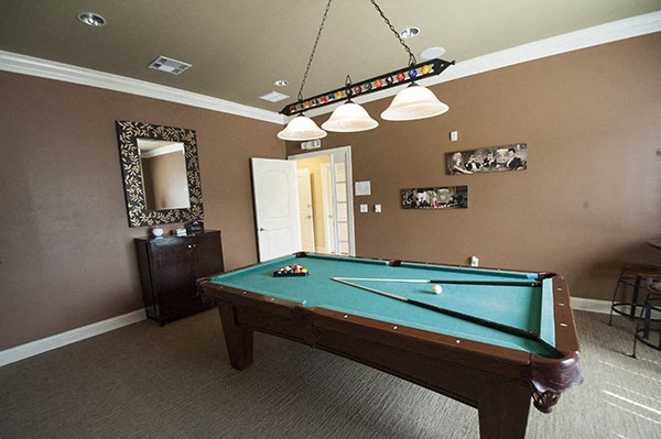 Pool Table at The Enclave at Pamalee Square Apartments, Fayetteville, NC,28301