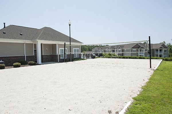 Sand Vollyball Court at The Enclave at Pamalee Square Apartments, Fayetteville, NC,28301