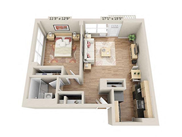 One bedroom 1
