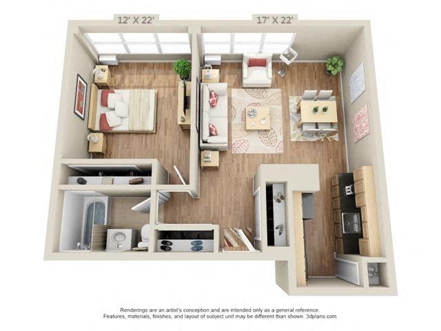 One bedroom 3