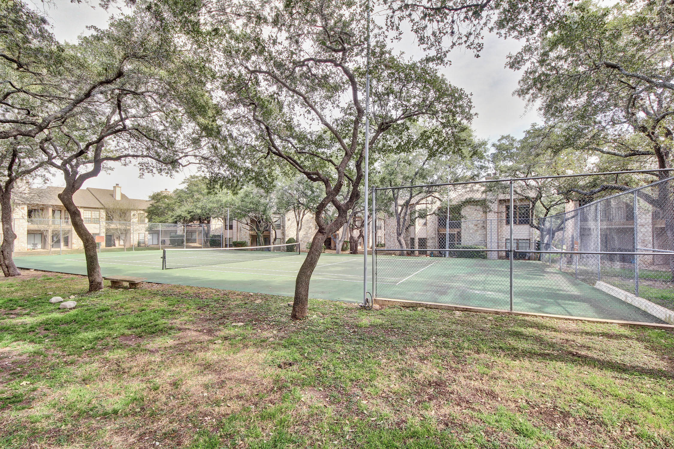 One of our wonderful amenities is our lighted tennis court