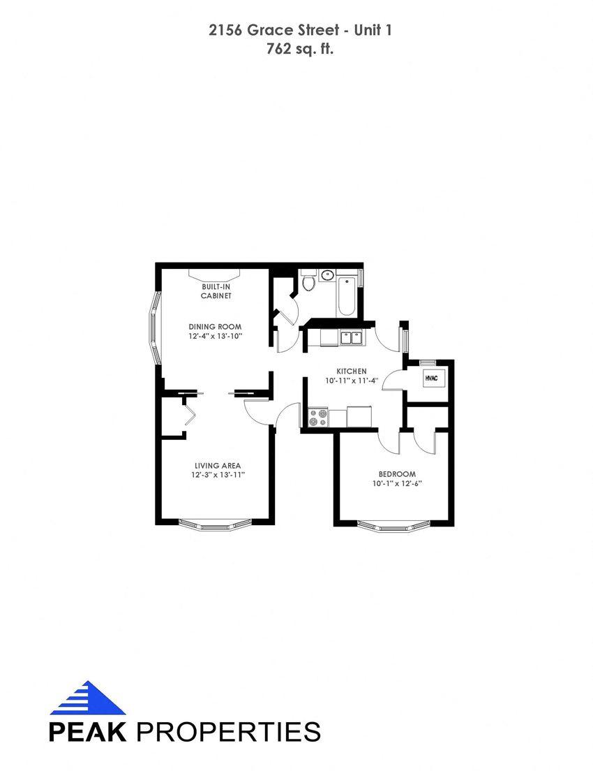 1 Bedroom - 1 Bathroom (2156)