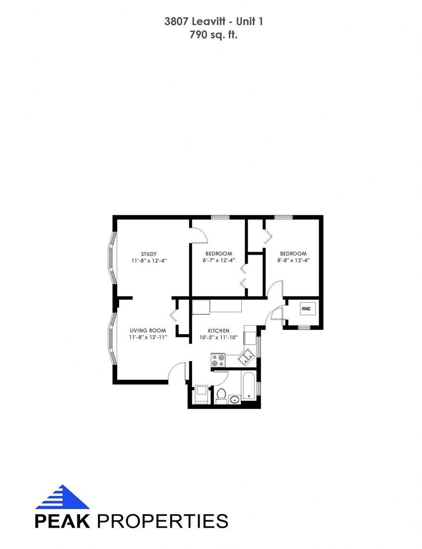 2 Bedroom - 1 Bathroom (3807)
