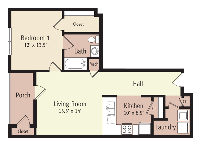 The Tyler Floor Plan 1