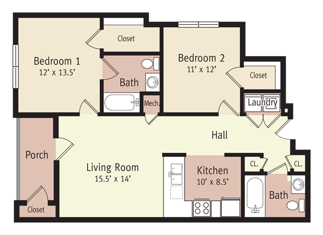 The Jefferson Floor Plan 3