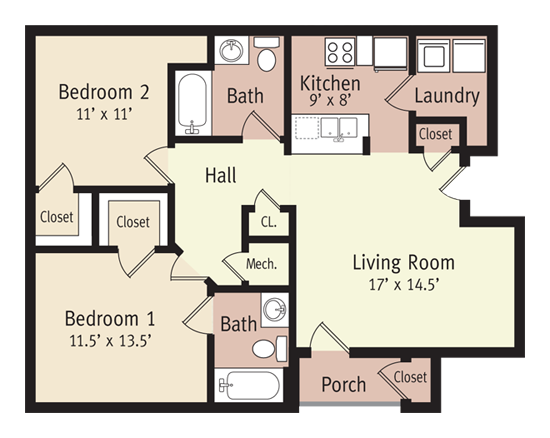The Madison Floor Plan 4