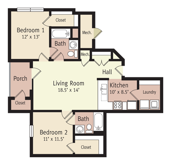 The Harrison Floor Plan 5