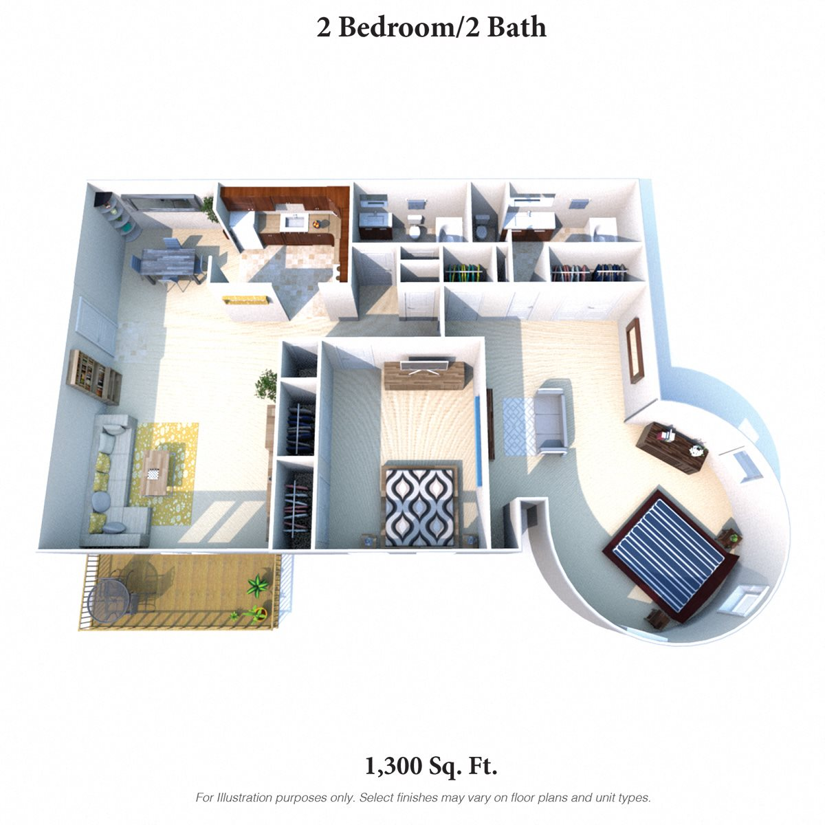 2 Bedroom 2 Bath B Floor Plan 6