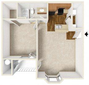 1br A Plan Ground Floor