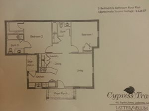 2 Bedroom/2 Bathroom Floor Plan