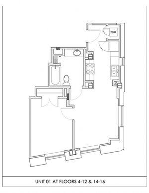 Unit 01, Floors 4-16