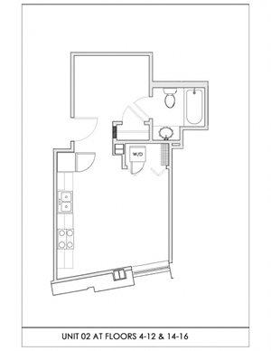 Unit 02, Floors 4-16