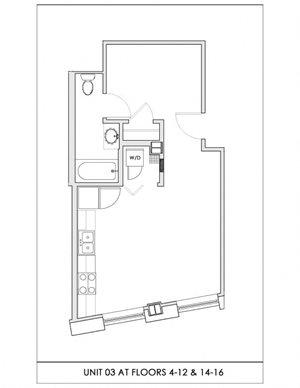 Unit 03, Floors 4-16