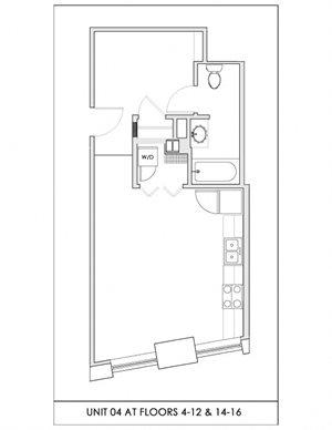 Unit 04, Floors 4-16
