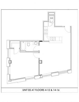 Unit 05, Floors 4-16