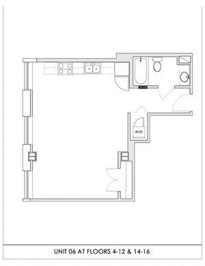 Unit 06, Floors 4-16
