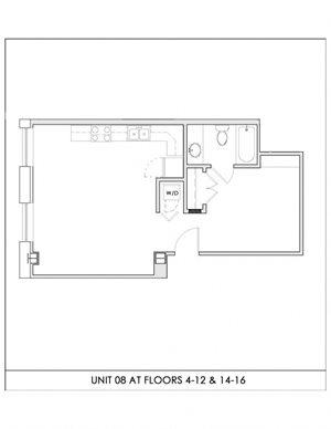 Unit 08, Floors 4-16