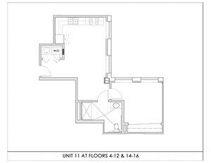 Unit 11, Floors 4-16