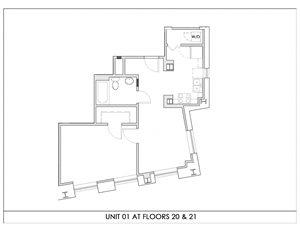 Unit 01, Floors 20-21