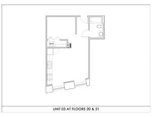 Unit 03, Floors 20-21
