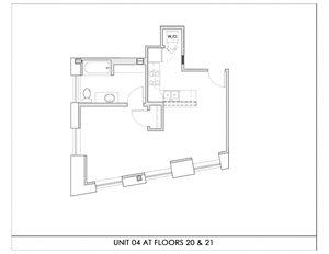 Unit 04, Floors 20-21