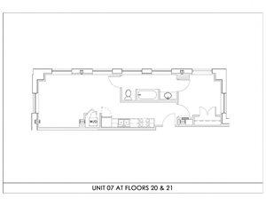 Unit 07, Floors 20-21