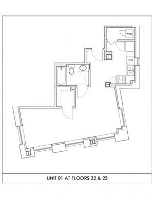Unit 01, Floors 22-23