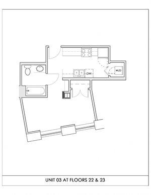 Unit 03, Floors 22-23
