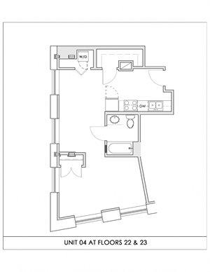 Unit 04, Floors 22-23