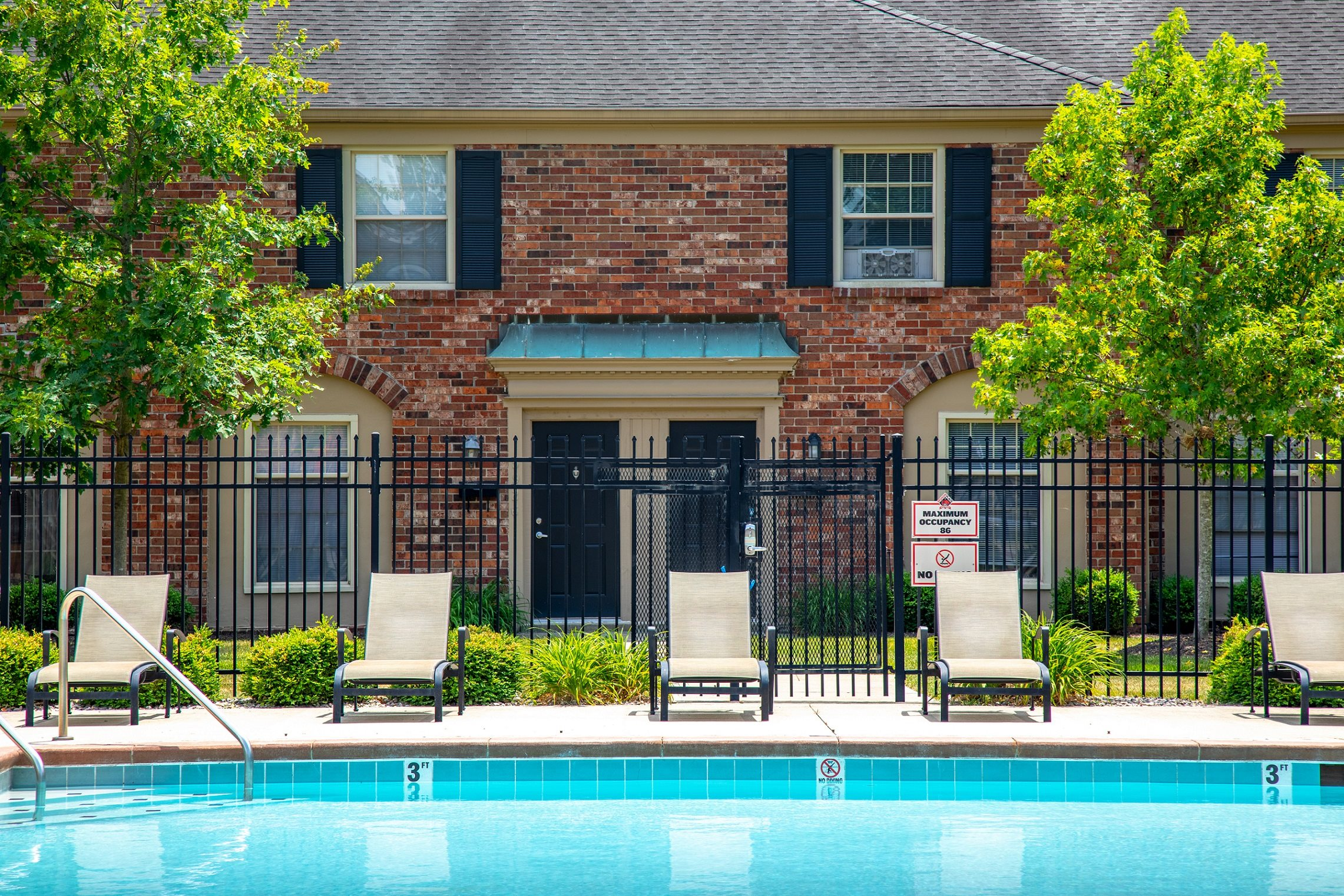 Swimming Pool With Relaxing Sundecks at Buckingham Monon Living, Indianapolis