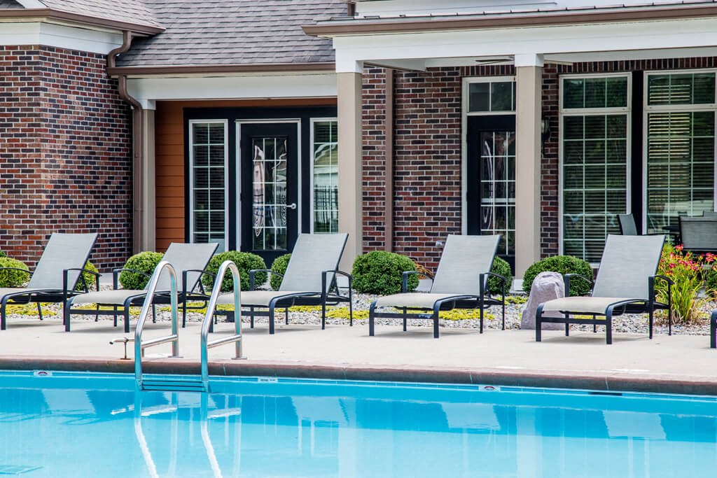 Pool with Sunning Deck, at Buckingham Monon Living, Indiana, 46220