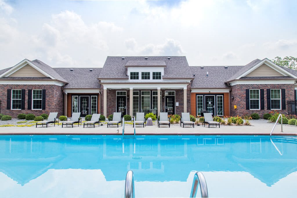 Pool Side Relaxing Area, at Buckingham Monon Living, Indianapolis, IN 46220