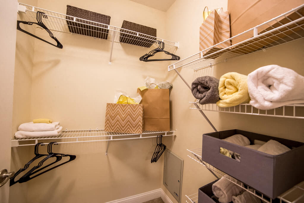 Large Closets in Bedrooms, at Buckingham Monon Living, Indiana, 46220