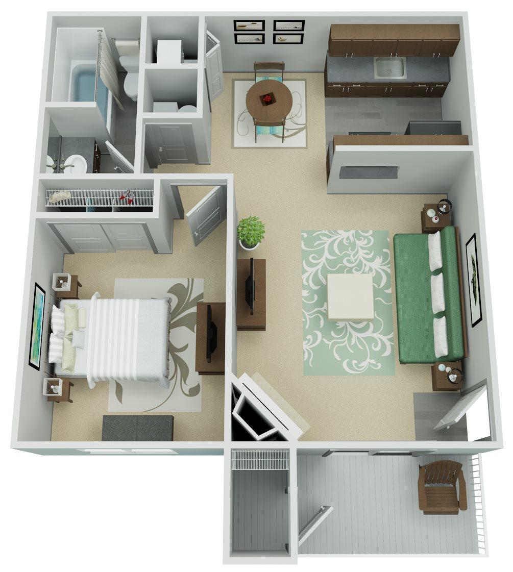 Verona Apartment Homes - 1 Bedroom 1 Bath Apartment