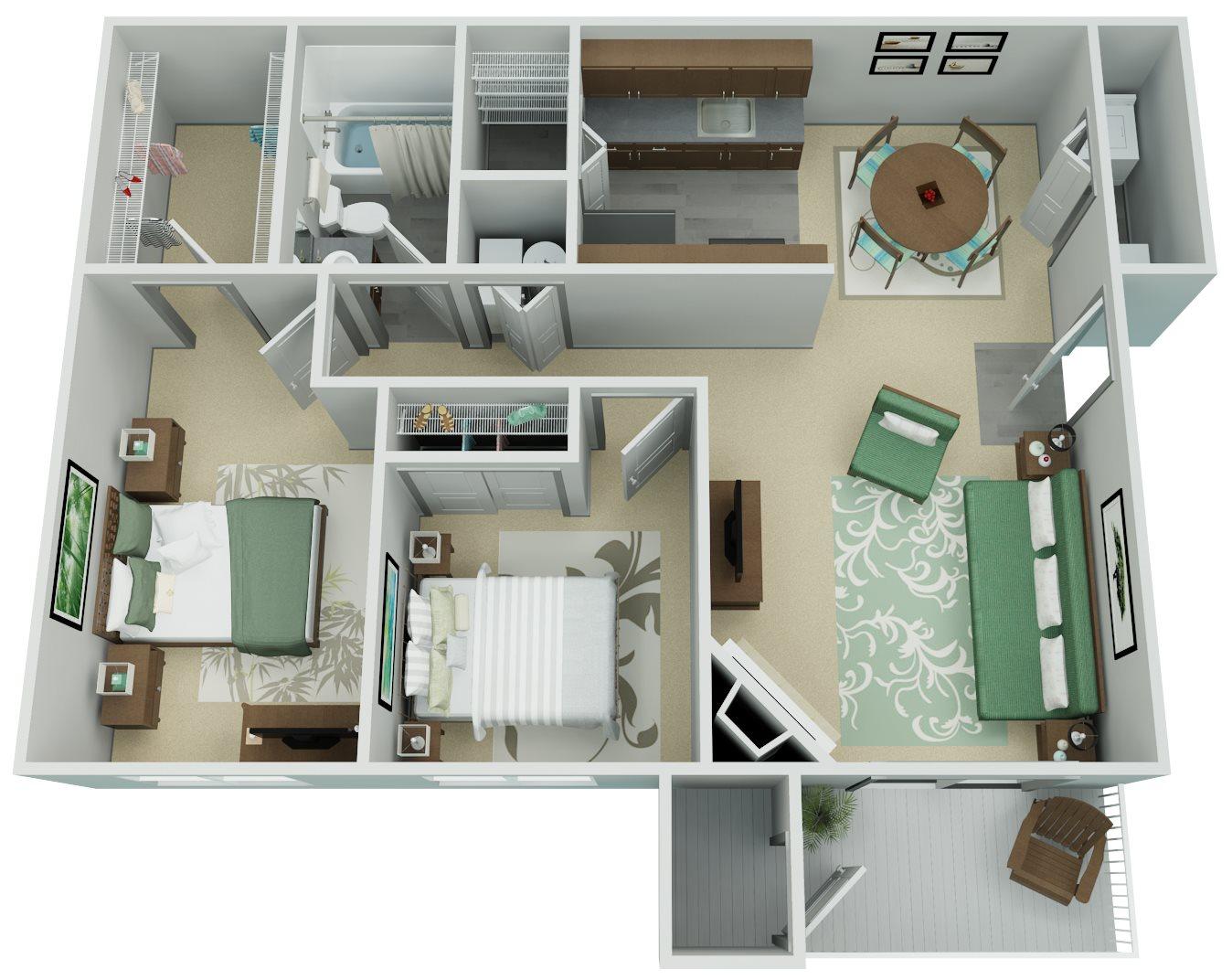 Verona Apartment Homes - 2 Bedroom 1 Bath Apartment