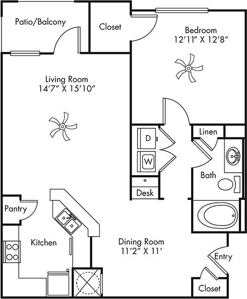 A1 optional garage Floor Plan 2