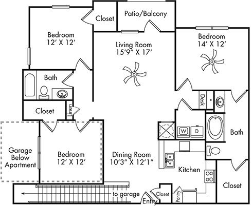 C1G w/ garage Floor Plan 7
