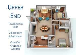 Two Bedroom Upper End