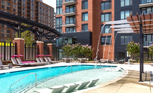 Luxury Highrise in North Bethesda swimming pool