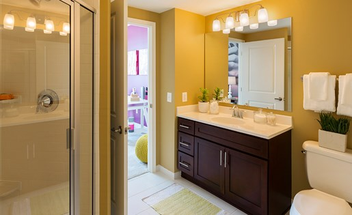 Modern Bathroom in new North Bethesda apartment