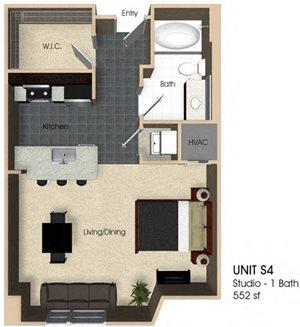 Floor plan at Aurora, North Bethesda