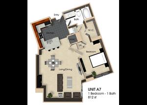 Floor plan at Aurora, North Bethesda, MD,20852