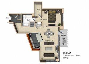 Floor plan at Aurora, Maryland,20852