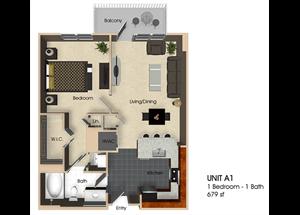 Floor plan at Aurora, North Bethesda, MD