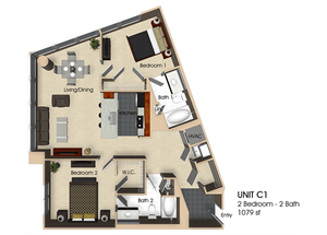 Floor plan at Aurora, North Bethesda, 20852