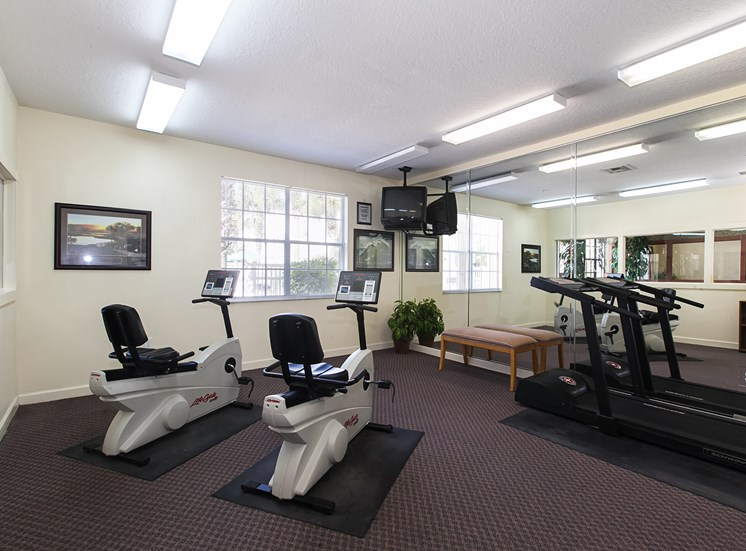 Lexington Club at Hunters Creek Apartments for rent in Deland, FL. Make this community your new home or visit other ConcordRENTS communities at ConcordRENTS.com. Fitness center