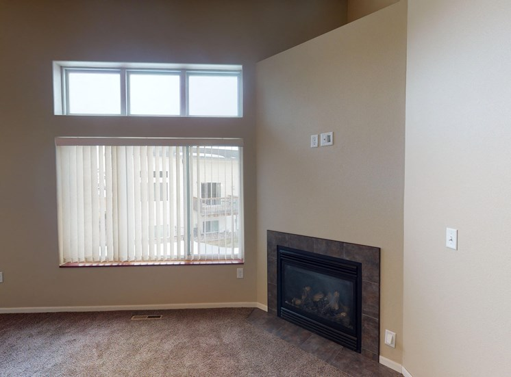 fireplace, living room