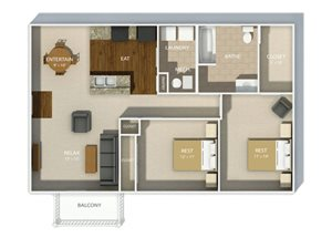Andover Park two bedroom layout one