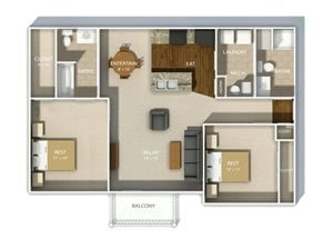 Andover Park two bedroom layout two
