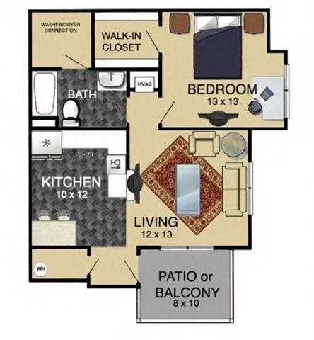 1 Bedroom 2nd Floor Floor Plan 2